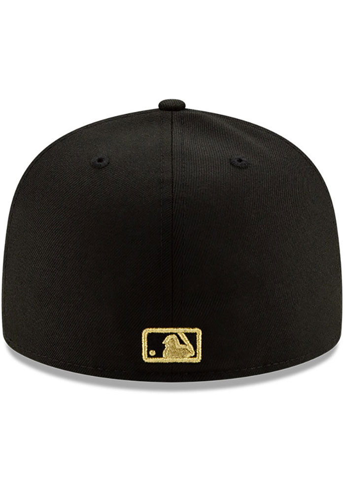 New Era Los Angeles Dodgers Mens Black Metal Beveled 59FIFTY Fitted Hat - Image 4