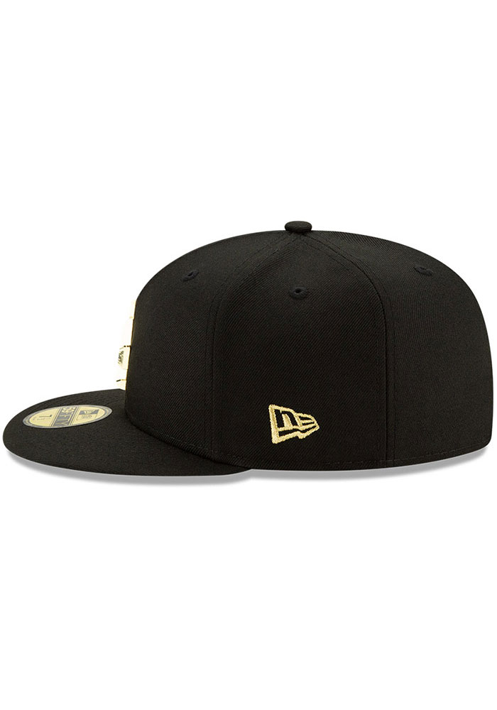 New Era Los Angeles Dodgers Mens Black Metal Beveled 59FIFTY Fitted Hat - Image 5