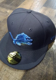 Detroit Lions New Era 59FIFTY Fitted Hat - Grey