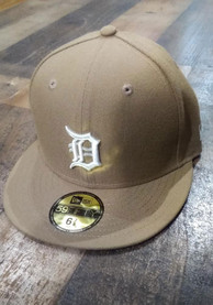 Detroit Tigers New Era 59FIFTY Fitted Hat - Khaki