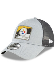 Pittsburgh Steelers New Era 2020 AFC North Division Champs Locker Room 9FORTY Adjustable Hat - Grey