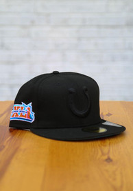 Indianapolis Colts New Era Tonal Super Bowl Side Patch 59FIFTY Fitted Hat - Black