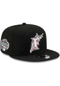 Miami Marlins New Era Side Patch Paisley UV 9FIFTY Snapback - Black