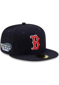 Boston Red Sox New Era Side Patch Paisley UV 59FIFTY Fitted Hat - Navy Blue
