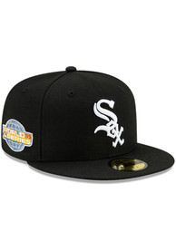 Chicago White Sox New Era Side Patch Paisley UV 59FIFTY Fitted Hat - Black