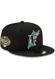 Miami Marlins New Era Side Patch Paisley UV 59FIFTY Fitted Hat - Black