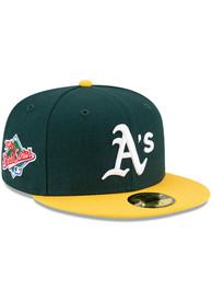 Oakland Athletics New Era Side Patch Paisley UV 59FIFTY Fitted Hat - Green