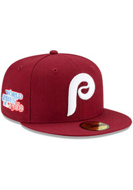 Philadelphia Phillies New Era Side Patch Paisley UV 59FIFTY Fitted Hat - Red
