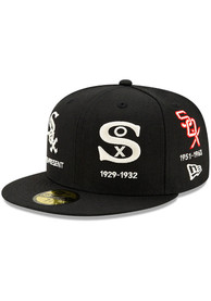 Chicago White Sox New Era Logo Progression 59FIFTY Fitted Hat - Black