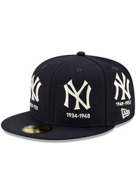 New York Yankees New Era Logo Progression 59FIFTY Fitted Hat - Navy Blue