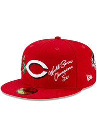 Cincinnati Reds New Era Icon 2 59FIFTY Fitted Hat - Red