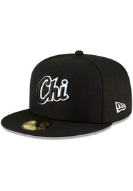 Chicago White Sox New Era MLB Ligature 59FIFTY Fitted Hat - Black