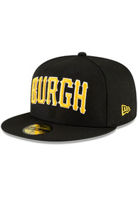 Pittsburgh Pirates New Era MLB Ligature 59FIFTY Fitted Hat - Black