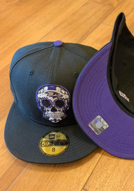 Baltimore Ravens New Era Sugar Skull 59FIFTY Fitted Hat - Black