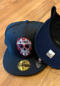 New England Patriots New Era Sugar Skull 59FIFTY Fitted Hat - Black
