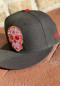 Tampa Bay Buccaneers New Era Sugar Skull Red UV GCP 59FIFTY Fitted Hat - Black
