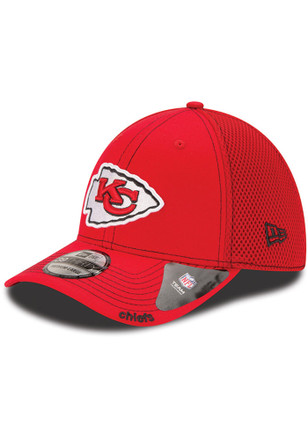 New Era Kansas City Chiefs Mens Red Team Neo 39THIRTY Flex Hat