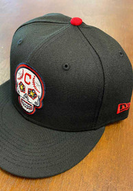 Cleveland Indians New Era Sugar Skull 59FIFTY Fitted Hat - Black
