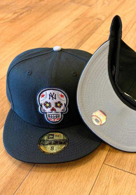 New York Yankees New Era Sugar Skull 59FIFTY Fitted Hat - Black