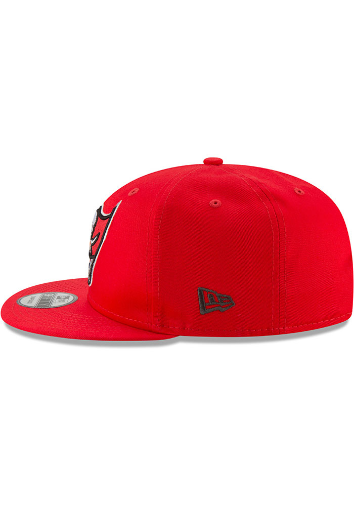 New Era Tampa Bay Buccaneers Red Super Bowl LV Champs Side Patch 9FIFTY Mens Snapback Hat - Image 5