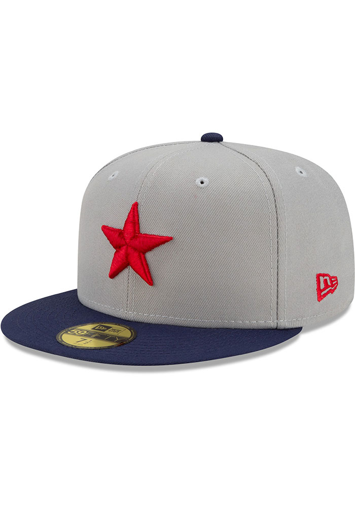 New Era Detroit Stars Mens Grey 2021 TBTC 59FIFTY Fitted Hat - Image 1