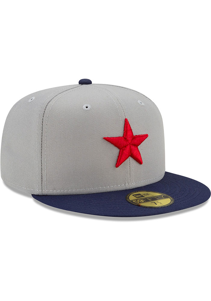 New Era Detroit Stars Mens Grey 2021 TBTC 59FIFTY Fitted Hat - Image 3