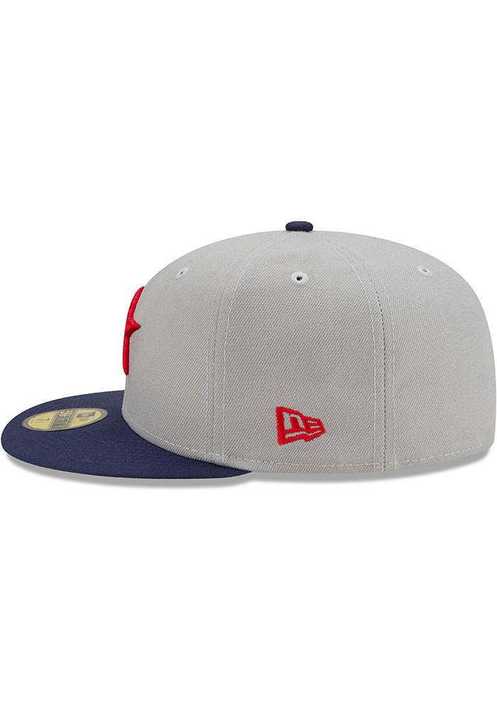 New Era Detroit Stars Mens Grey 2021 TBTC 59FIFTY Fitted Hat - Image 4