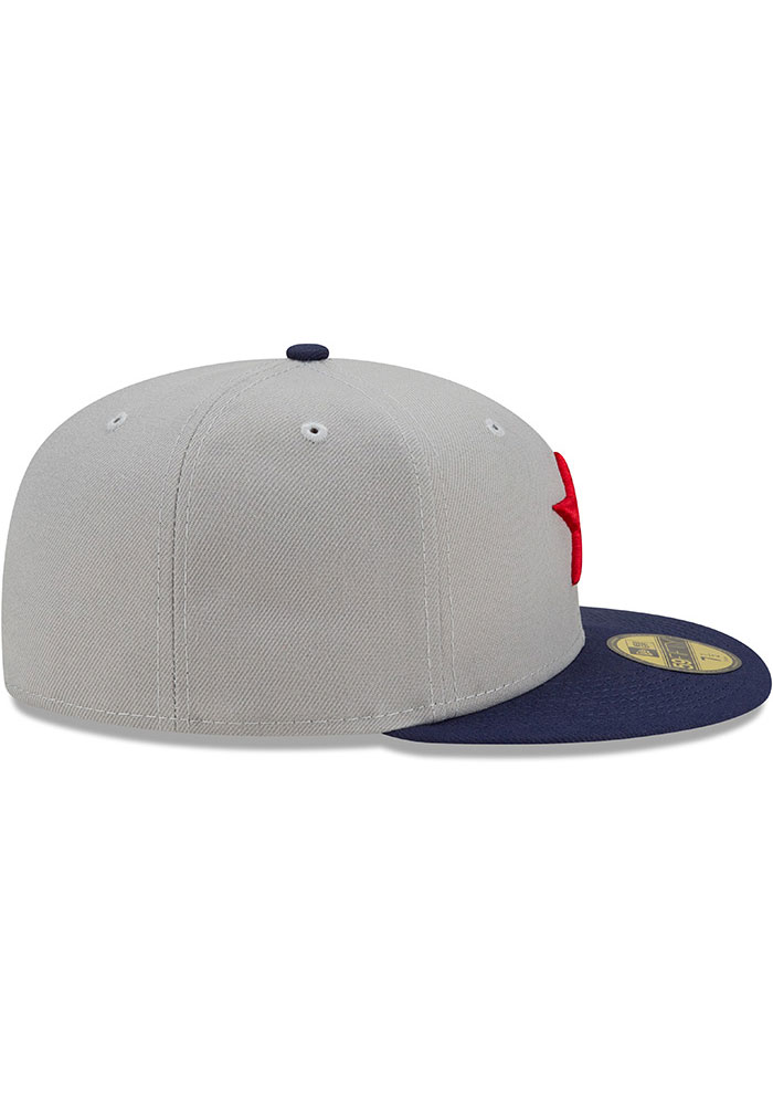 New Era Detroit Stars Mens Grey 2021 TBTC 59FIFTY Fitted Hat - Image 6