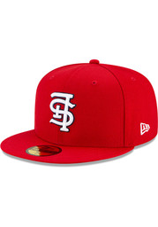 St Louis Cardinals New Era Upside Down 59FIFTY Fitted Hat - Red