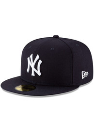 New York Yankees New Era New York Yankees Wool 59Fifty Fitted Fitted Hat - Navy Blue