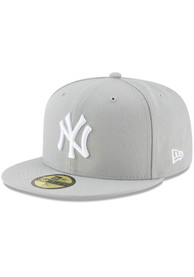 New York Yankees New Era New York Yankees Mlb Basic 59Fifty Fitted Fitted Hat - Grey