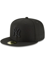 New York Yankees New Era New York Yankees Black On Black 59Fifty Fitted Fitted Hat - Black