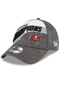 Tampa Bay Buccaneers New Era Conference Champs 9FORTY Adjustable Hat - Grey