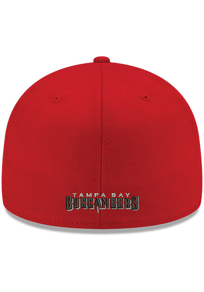 New Era Tampa Bay Buccaneers Mens Red Super Bowl LV Side Patch 59FIFTY Fitted Hat - Image 4