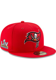 Tampa Bay Buccaneers New Era Super Bowl LV Champs Side Patch 59FIFTY Fitted Hat - Grey