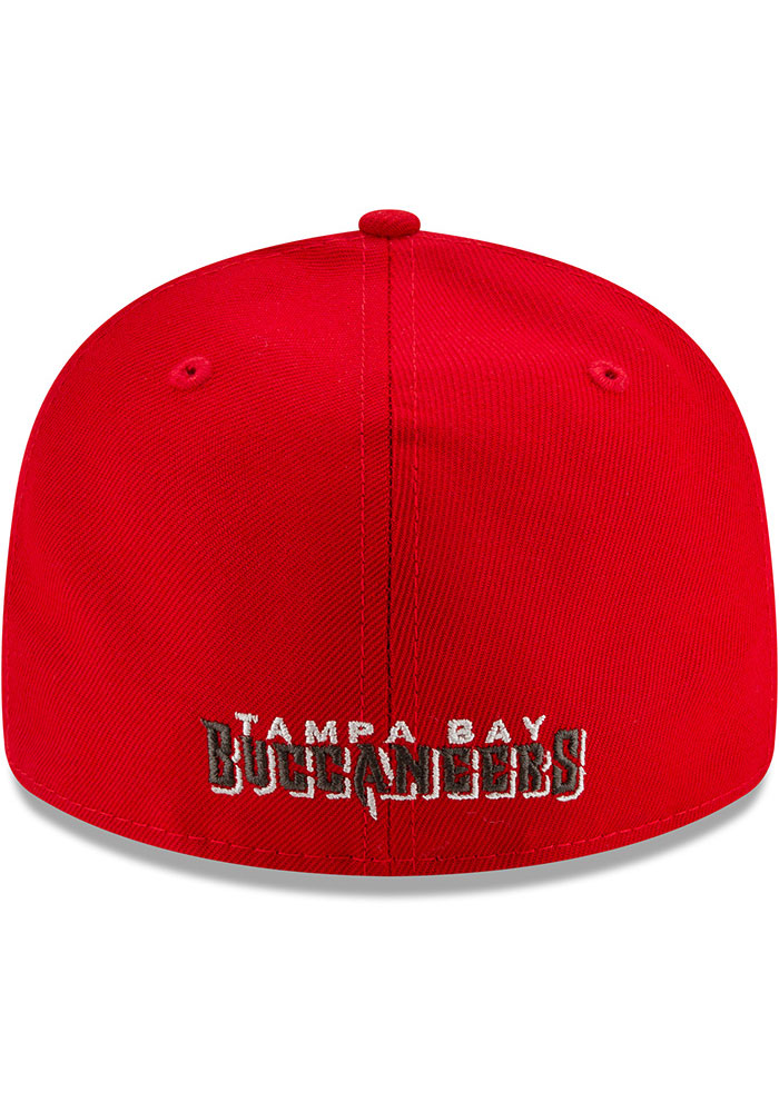 New Era Tampa Bay Buccaneers Mens Grey Super Bowl LV Champs Side Patch 59FIFTY Fitted Hat - Image 4
