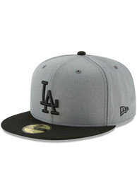 Los Angeles Dodgers New Era 2T Basic 59FIFTY Fitted Hat - Grey