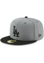 New Era Los Angeles Dodgers Mens Grey 2T Basic 59FIFTY Fitted Hat