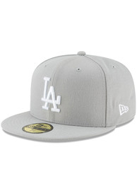 Los Angeles Dodgers New Era Basic 59FIFTY Fitted Hat - Grey