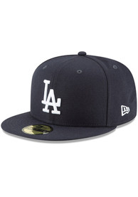 Los Angeles Dodgers New Era Basic 59FIFTY Fitted Hat - Navy Blue