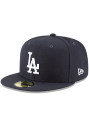 New Era Los Angeles Dodgers Mens Navy Blue Basic 59FIFTY Fitted Hat