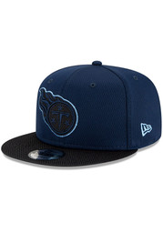 New Era Tennessee Titans Navy Blue 2021 Sideline Road 9FIFTY Mens Snapback Hat