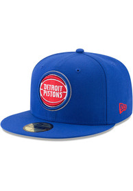 Detroit Pistons New Era Primary 59FIFTY Fitted Hat - Blue