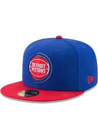 Detroit Pistons New Era 2T 59FIFTY Fitted Hat - Blue