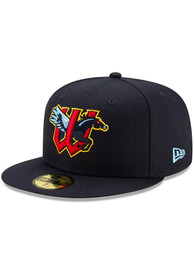 Wichita Wind Surge New Era MiLB AC Home 59FIFTY Fitted Hat - Navy Blue