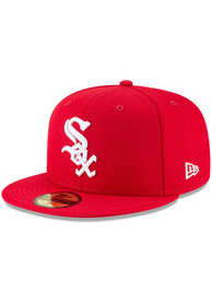 Chicago White Sox New Era Chi White Sox Red 59FIFTY Fitted Hat - Red
