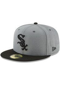 Chicago White Sox New Era 2T Basic 59FIFTY Fitted Hat - Grey