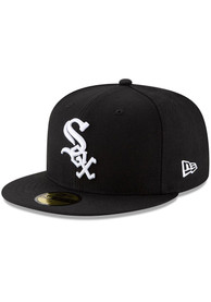 Chicago White Sox New Era Wool 59FIFTY Fitted Hat - Black