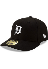 Detroit Tigers New Era Det Tigers Black Low Profile 59FIFTY Fitted Hat - Black