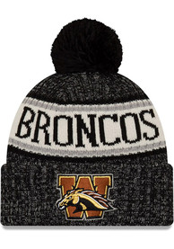 Western Michigan Broncos New Era Western Michigan Black NE18 Sport Knit Knit - Black